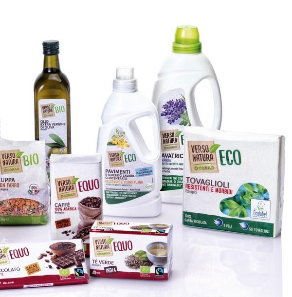 Con 'Verso Natura' Conad riunisce bio, veg, equo ed eco