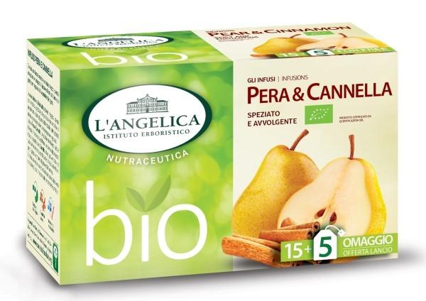 L'Istituto erboristico L'Angelica propone l'infuso BIO Pera & Cannella