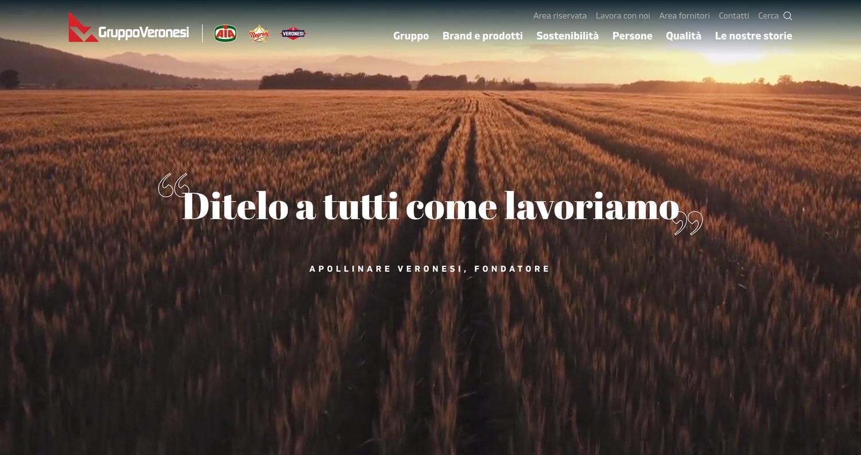 Il Gruppo Veronesi è online con il nuovo sito