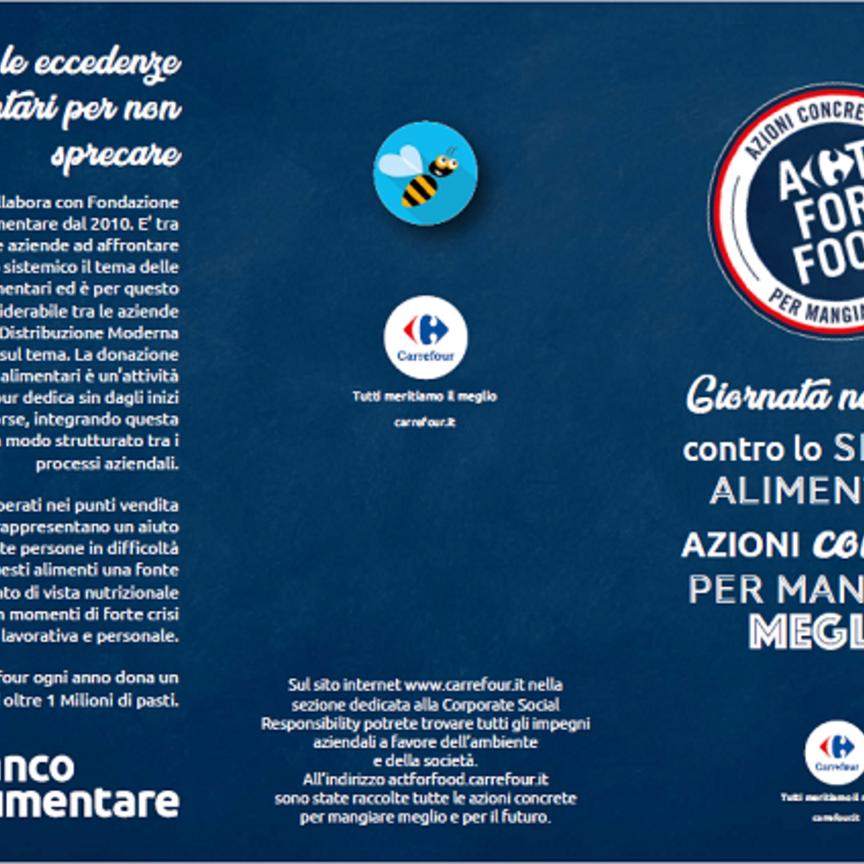 Carrefour Italia celebra la Giornata nazionale contro lo spreco alimentare con iniziative sul territorio