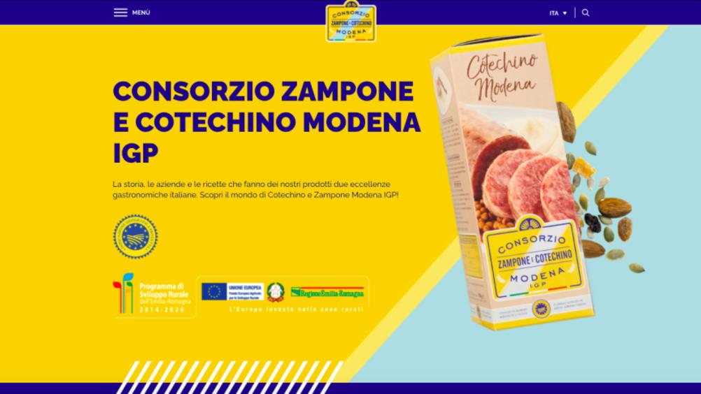 Consorzio Zampone e cotechino Modena igp: nuovo look per il sito