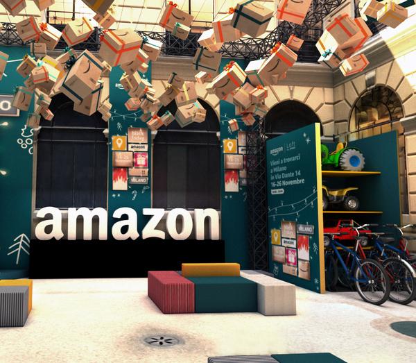 Torna a Milano San Babila il temporary store di Amazon