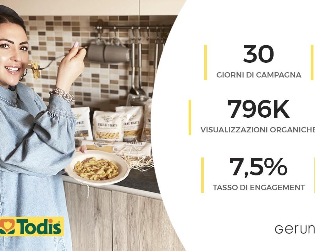 Todis punta sull'influncer marketing per il lancio del nuovo brand di pasta