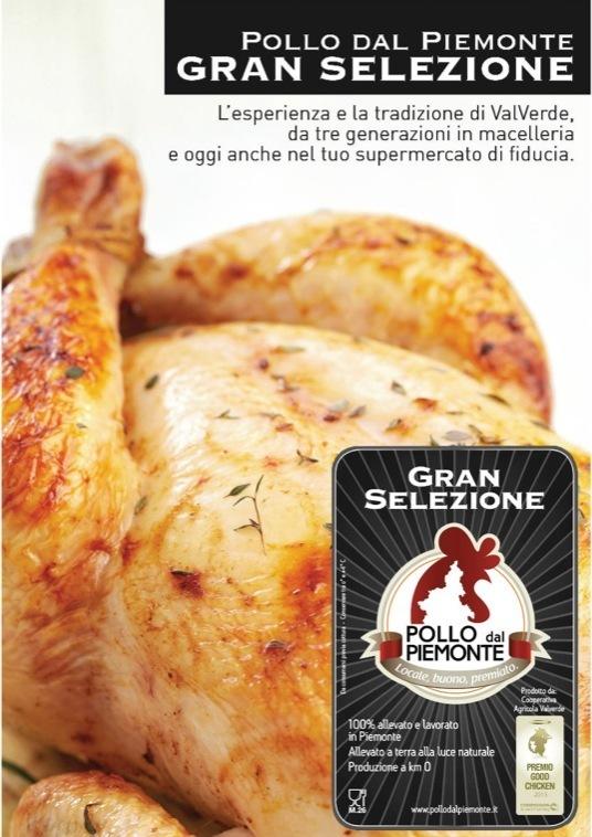"""Pollo dal Piemonte: """"Gran Selezione"""" debutta in gdo"""