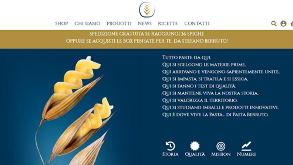 Pasta Berruto presenta il suo e-commerce