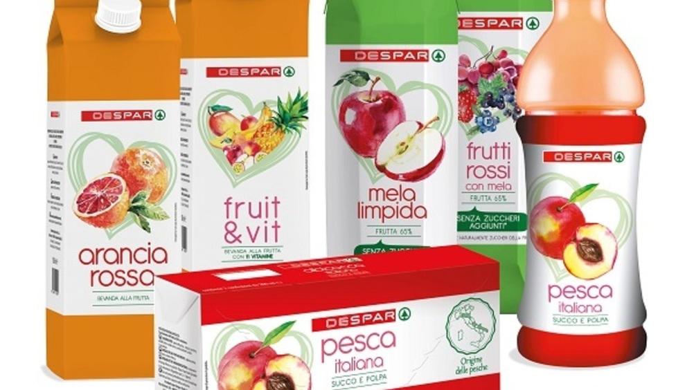 Meno zuccheri per la linea di succhi e nettari a marchio Despar