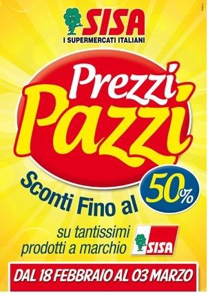 """Sisa: """"Prezzi Pazzi"""" per le pl"""