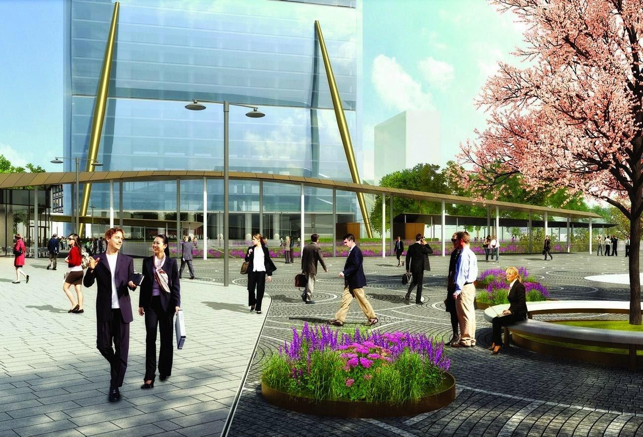 Work in progress per CityLife Shopping District