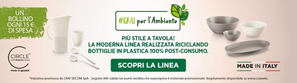 """#crai per l'ambiente: la nuova short collection """"eco sostenibile"""""""