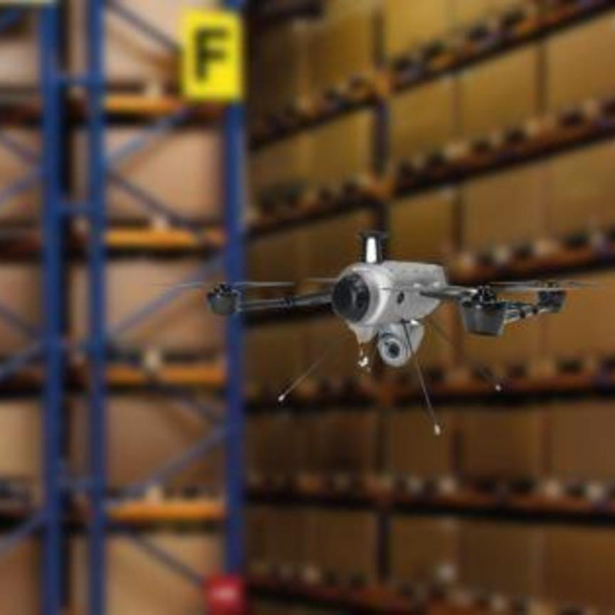 Geodis sperimenta l'inventario di magazzino con il drone