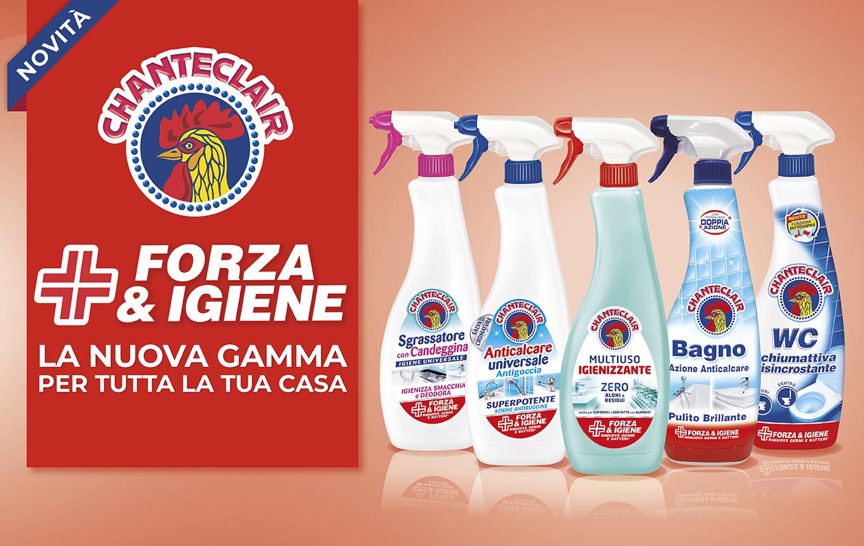 Forza&Igiene: la nuova gamma di Chanteclair per la pulizia e l'igiene di tutta la casa