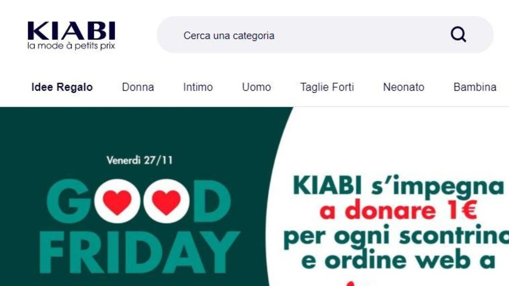 "​ Kiabi ha trasformato il ""Black friday"" in ""Good friday"""