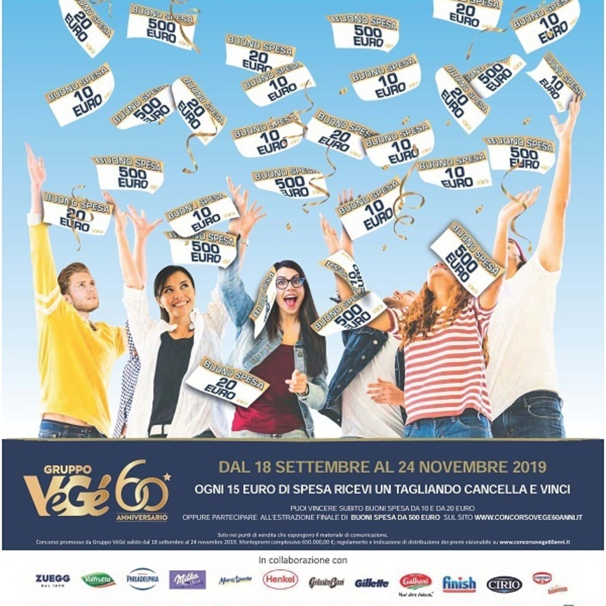 Gruppo VéGé festeggia i 60 anni di attività con nuove iniziative