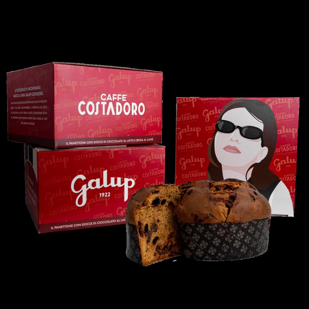 Galup: il panettone con gocce di cioccolato al latte e crema al caffè Costadoro