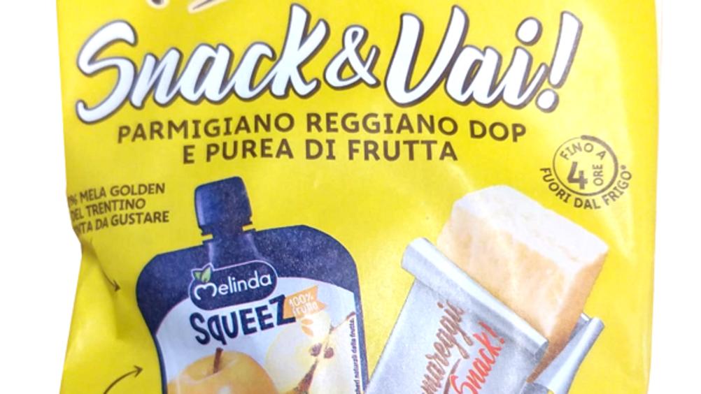 Melinda e Parmareggio lanciano Snack & Vai