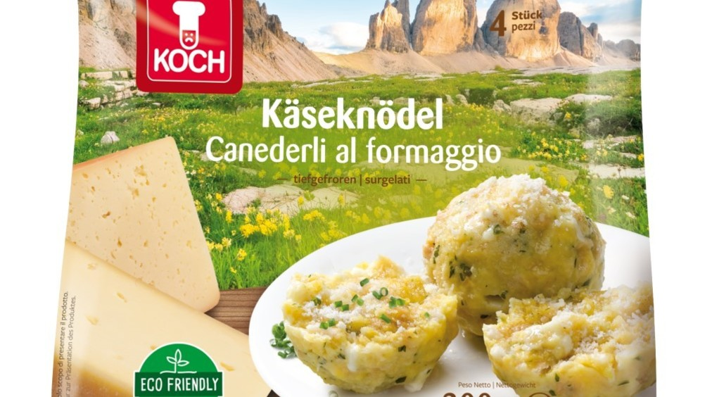 Koch: nuovo packaging ecofriendly per i canederli