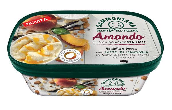 L\u0027azienda arricchisce il proprio assortimento con un nuovo gelato a base di  latte di mandorla, senza latte vaccino.