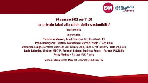 Le private label alla sfida della sostenibilità: martedì 26 il webinar organizzato da DM
