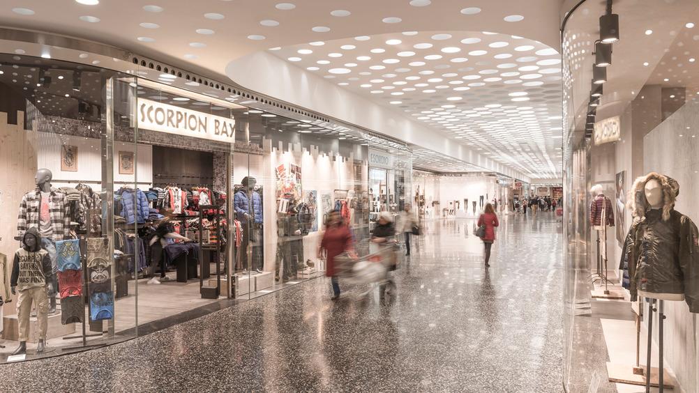 Il mall presenta un'offerta commerciale di ottimo livello