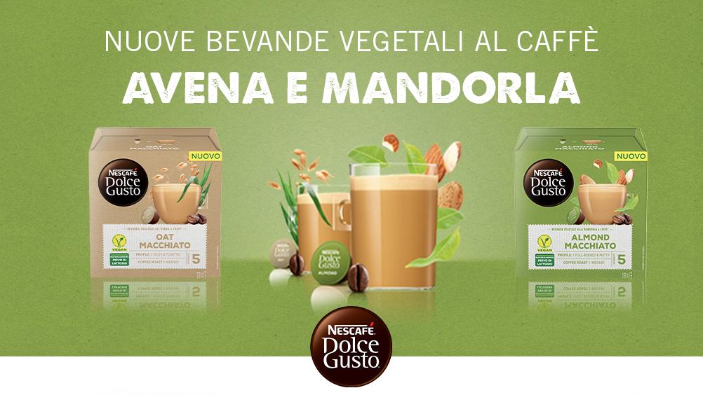 Nescafé Dolce Gusto lancia le nuove bevande vegetali al caffè: avena e mandorla