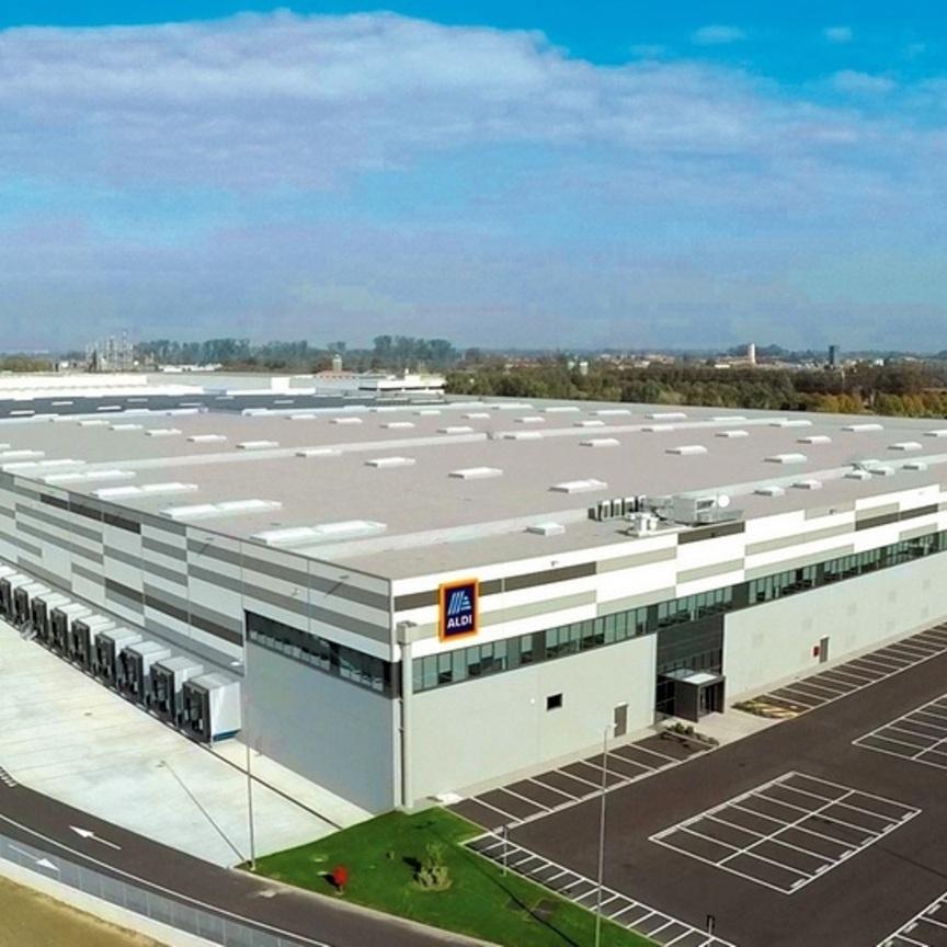 Aldi apre il nuovo centro logistico di Landriano