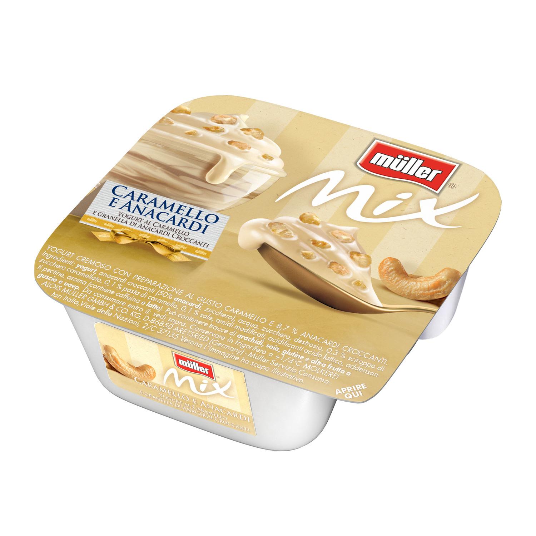 In arrivo Muller Mix caramello e anacardi