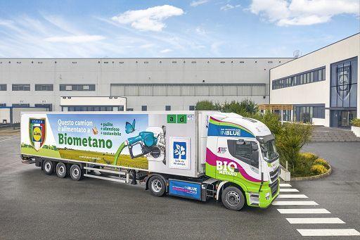 Lidl prima azienda italiana ad utilizzare il biometano per il trasporto delle merci