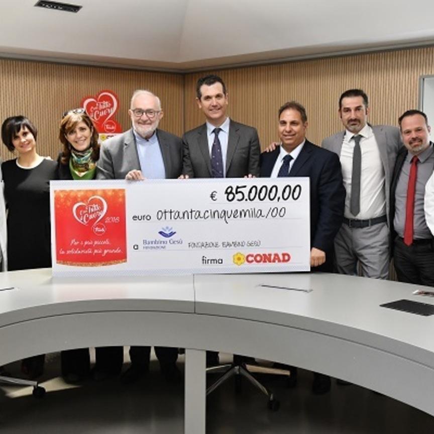 Conad dona 85mila euro all'Ospedale Pediatrico Bambino Gesù
