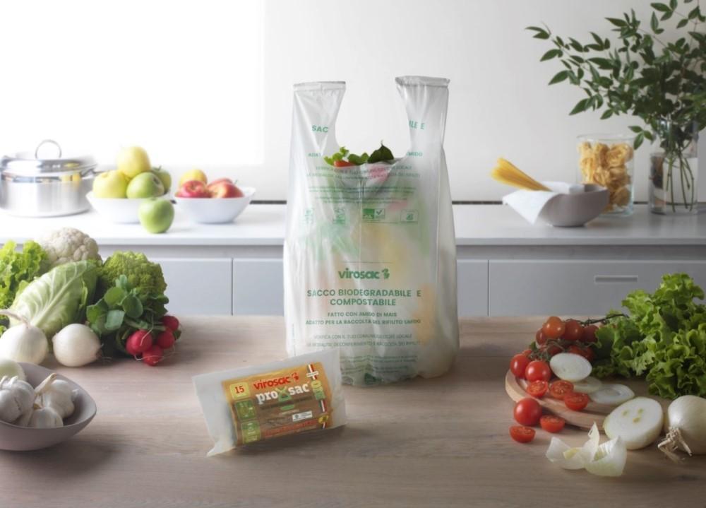 ProXsac Bio di Virosac: il pratico sacchetto per l'organico con le bretelle