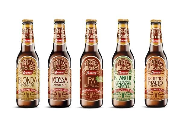 """Molino Spadoni debutta nel segmento delle birre artigianali con la gamma a marchio """"Birrificio del Molino"""""""