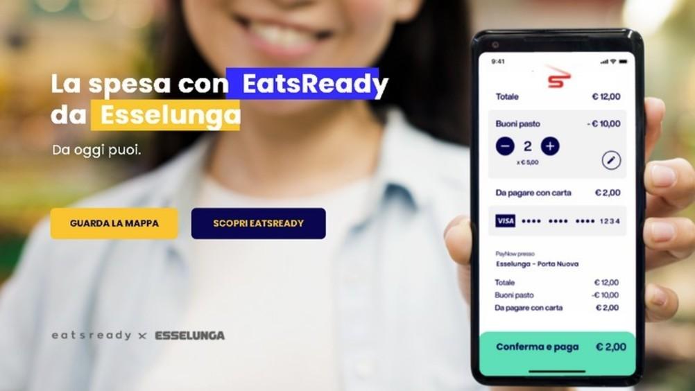Da Esselunga si paga con i buoni pasto digitali di Eatsready