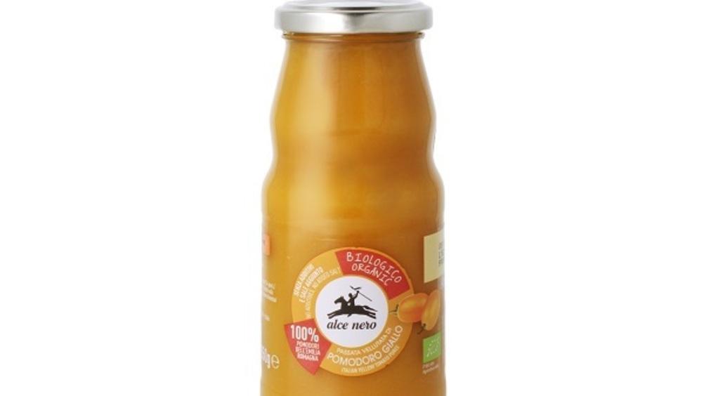 Alce Nero presenta la Passata vellutata di pomodoro giallo