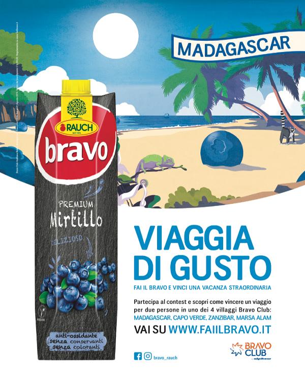 """Rauch Italia, al via la campagna """"Fai il Bravo"""""""
