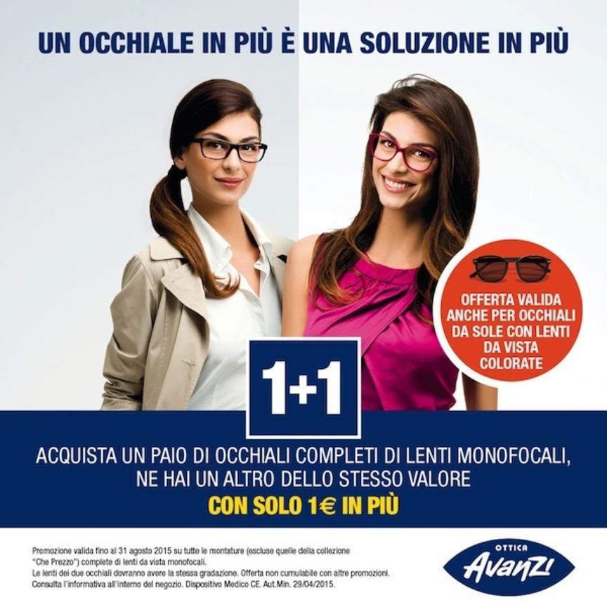 """immagini dettagliate comprare on line cerca genuino Ottica Avanti e Optissimo ripropongono l'offerta """"1+1 ..."""
