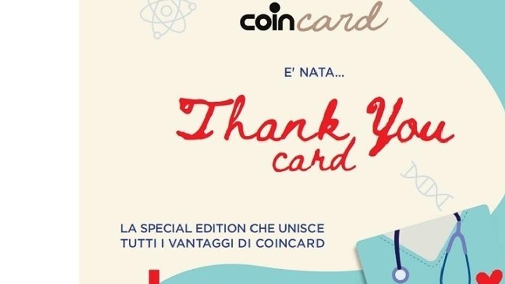 Coin lancia un'edizione speciale della Coincard, la Thank you card
