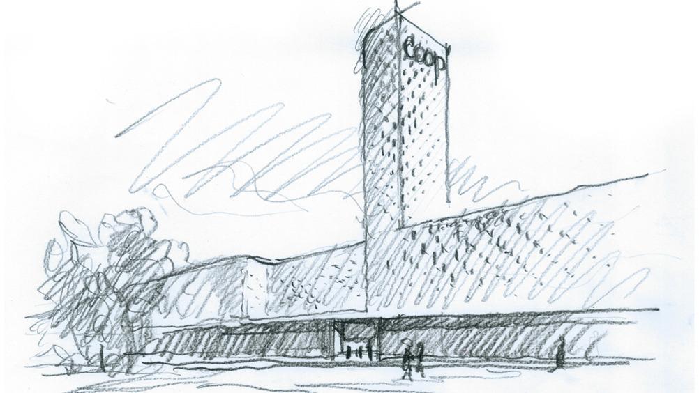 Il progetto architettonico modella lo shopping center aretino