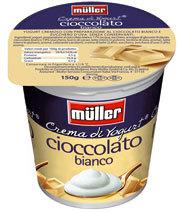 Cioccolato bianco per la Crema di Yogurt Müller