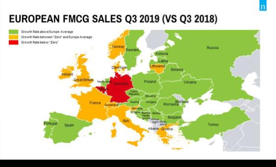 Nielsen, largo consumo: nel terzo trimestre 2019 Italia seconda solo alla Spagna