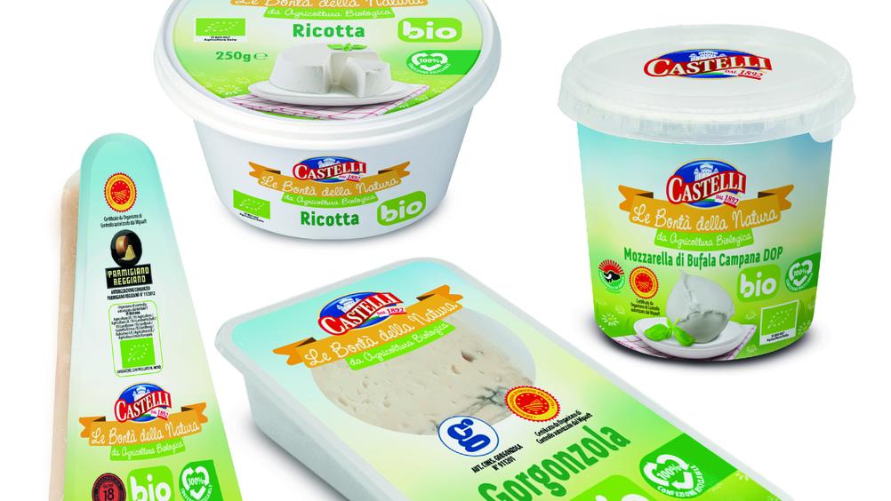 Nuova Castelli presenta la gamma dei formaggi biologici