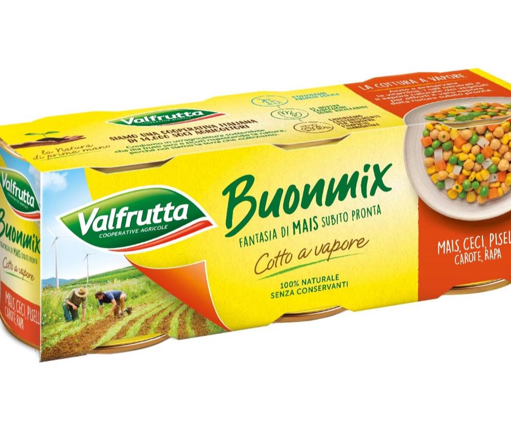 Buonmix Valfrutta: fantasia di mais al vapore subito pronta