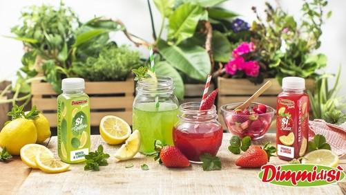 DimmidiSì, 2 nuovi estratti: Red detox fragola & limone e Green tonic  menta & limone