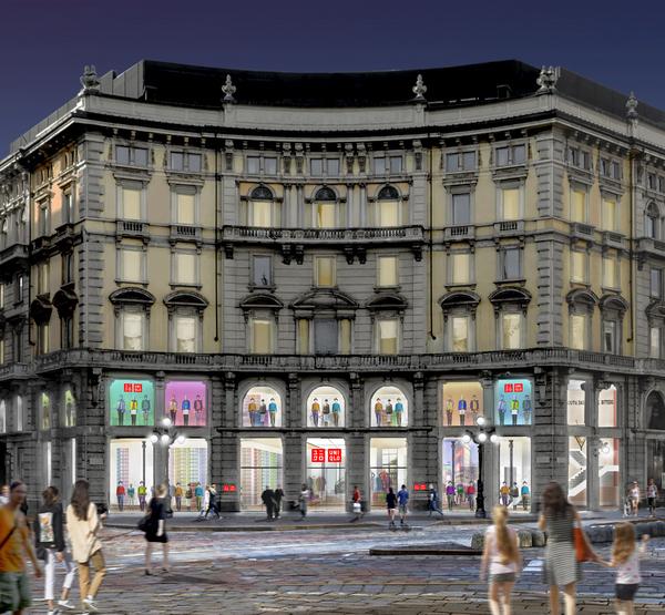 Uniqlo conferma l'apertura di Milano nell'autunno del 2019