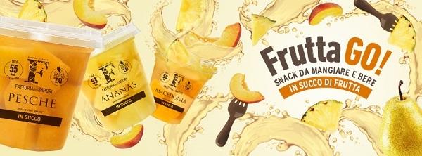 Sama presenta la linea di frutta conservata al naturale Frutta GO!