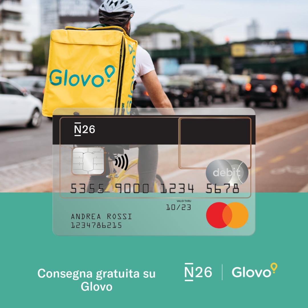 N26 e Glovo rafforzano la loro collaborazione per offrire consegne gratuite in Italia