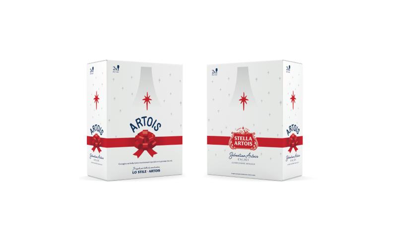  Stella Artois: due calici limited edition  direttamente a casa per Natale