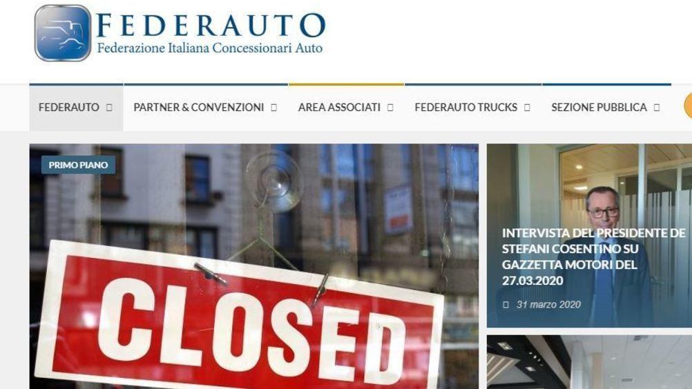Federauto: marzo chiude con una flessione dell'86%