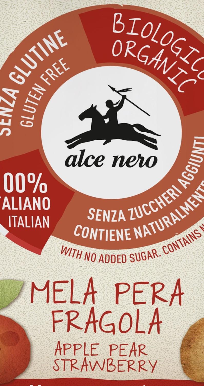 Alce Nero presenta la nuova purea biologica di mela, pera e fragola