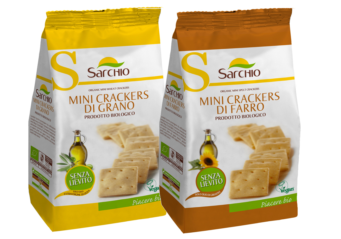 Sarchio presenta i mini crackers vegani