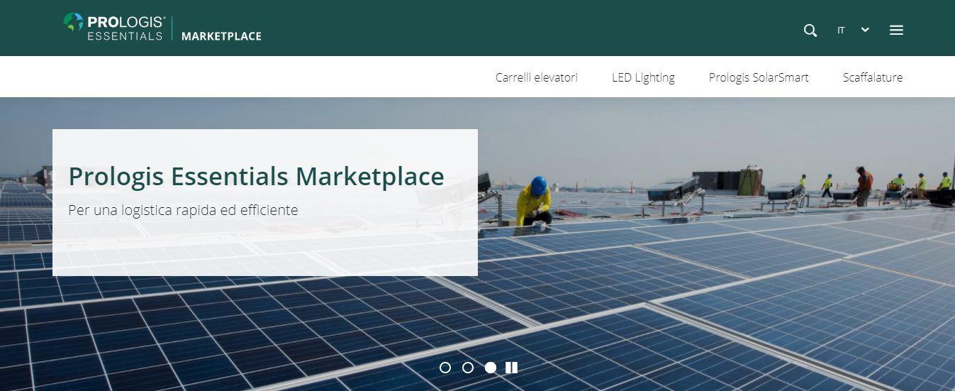 Media alert, Prologis Essentials Marketplace: la nuova piattaforma online per una logistica sostenibile