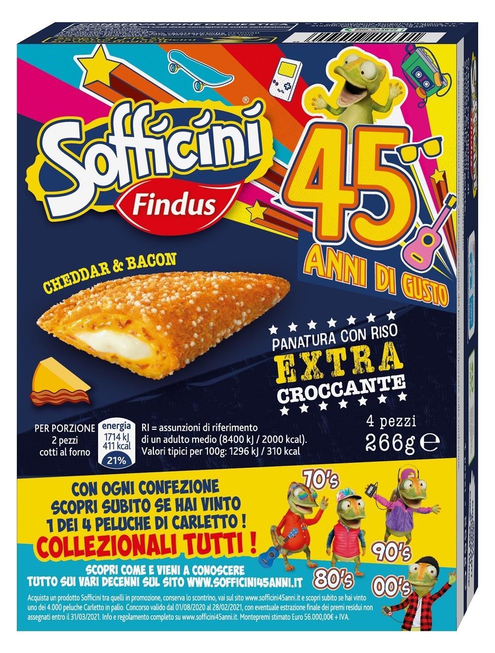 """Sofficini Findus, al via la consumer promo """"45 anni di gusto"""""""